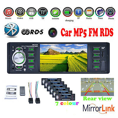 4.1''1DIN Bluetooth Car Radio Stereo RDS USB/TF/AUX FM MP3 MP5 Player Headsfree