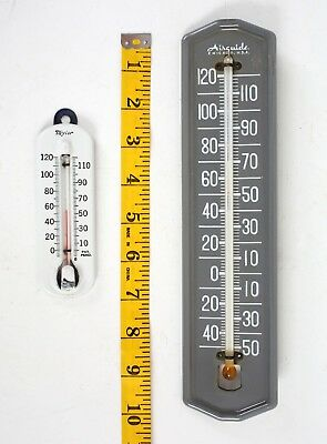 Lot of Two Porcelain Vintage Thermometers Taylor Airguide