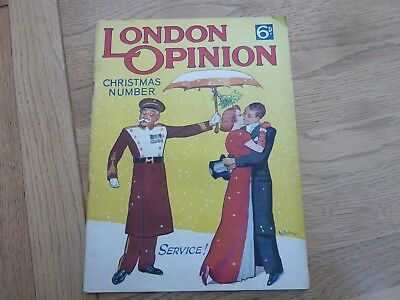1937 London Opinion Magazine Christmas Number Original Complete