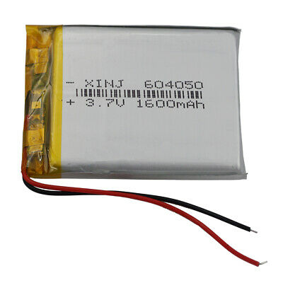 3.7v 1600 mah 604050 Li polymer battery Li-po cells for Camera GPS DVD Tablet PC