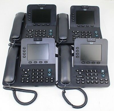 Lot of (4) Cisco CP-8945 Video Conference phone VoIP PoE