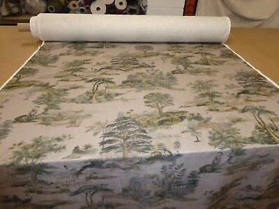 Stunning TOILE DE JOUY DESIGN- Linen Print Upholstery / Curtain Fabric from M&S