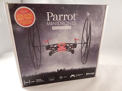 Parrot Rolling Spider Mini Drone Camera Attached - Bluetooth - Red (NEW) #S705