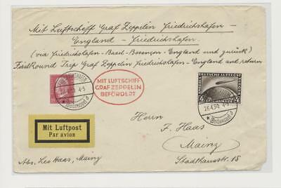 Germany- Zeppelin Cover Front Only Lot # 47