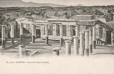Pompeii Italy Ruins of a Home Postcard Undivided Back
