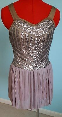 Curtain Call Dance Costume Solo Lyrical Ballet Competition Size ASM Lovely!