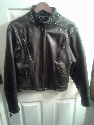 Hot Leathers - Women's Black Leather Motorcycle Jacket- Removable Lining - Sz L