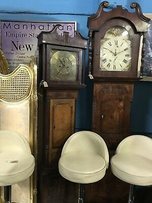 antique Oak Mahogany Grandfather Clock