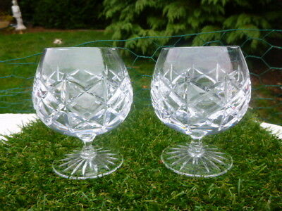 Pair Of Stunning : Cut Glass / Crystal Brandy Glasses * Bargain