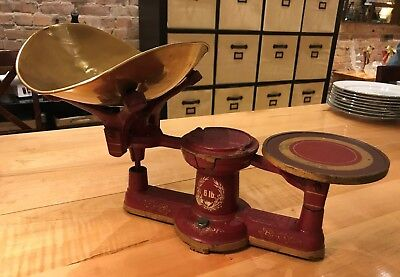 antique Howe 6lb. candy scale 1867 Rutland Vt. No.2 nice original paint