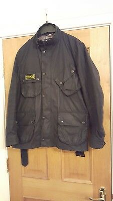 Barbour international wax jacket mens Barbour wax jacket large