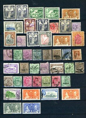 British Guinea, Honduras, India outstanding selection of 45 stamps - CV=$18.00