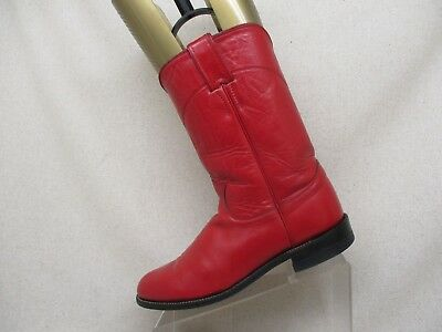 f9618c704b2 Justin Roper Red All Leather Cowboy Western Boots Womens Size 9 A Style  L3055