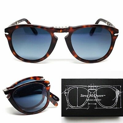 Brille Persol Po 714 Sm 24/s3 52 Polarized Folding Steve Mcqueen Edition