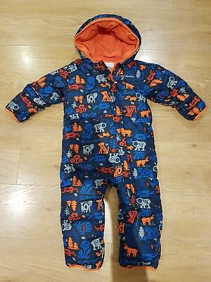 Columbia Snuggly Bunny Bunting baby toddler down snowsuit 18-24 months