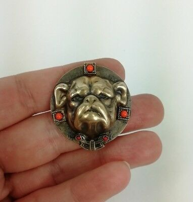 Antique France Brass buttons beautiful the head of a bulldog