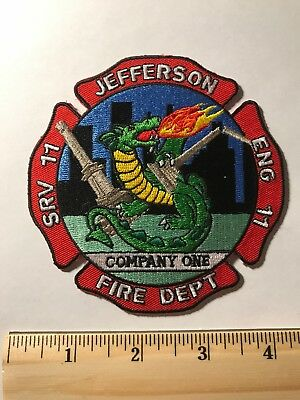 Jefferson Fire Dept Georgia Ga Company One Dragon Flames Engine 11 Srv 11