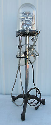 Antique C.M. Sorensen Electric Dental Drill Compression Pump & Motor Stand yqz