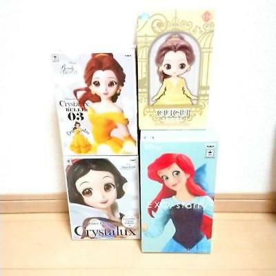 Used Disney Figure 4 Points Crystalux Bell Snow White Ariel Etc