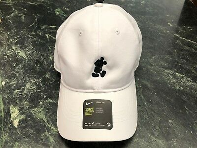 Disney Parks Exclusive Mickey Mouse Character Nike Baseball Cap Hat White 75790766023