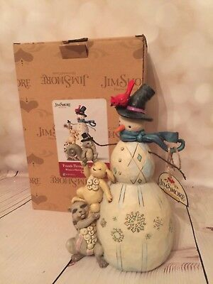 Jim Shore Heartwood Creek Friends Through Ups and Downs Snowman #4059759 w/Box