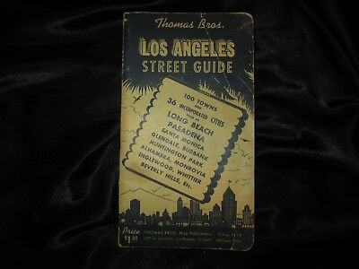 Thomas Brothers Street Guide of Los Angeles County 1944 (Copyright 1945) Nice