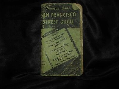 Thomas Brothers Street Guide of San Francisco Area 1955 (Copyright 1956) Nice