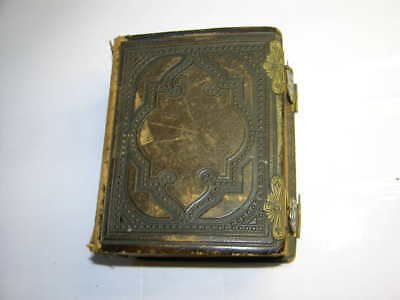 Vintage CDV Leather Photo Album by Samuel Baules & Co. with 25 CDV's