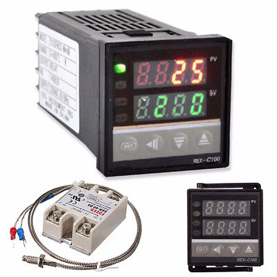 Digital LCD PID Temperature Controller Set + K Thermocouple + Max.40A SSR Z2G6
