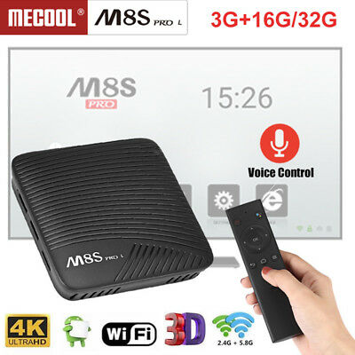 Mecool M8S PRO L 3GB+16/32G TV Box Android 7.1 WiFi/BT Octa Core 4K Media Player