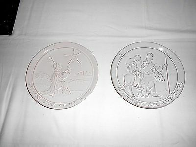 2 FRANKOMA PLATES JOHN FRAUK 1968 Flight into Egypt & 1979 The Star of Hope