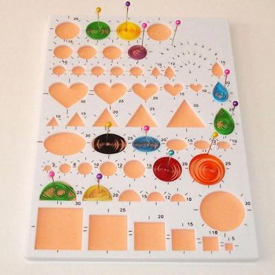Quilling Tools Template Mould Board Slotted Tool Paper DIY Set H
