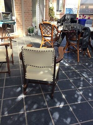 Two Vintage Chairs (pair) Tasmanian Oak Timber Arms