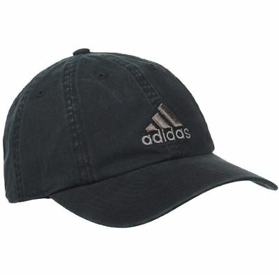 New Adidas Mens Weekend Warrior Hat Black Climalite Baseball Cap Adjustable