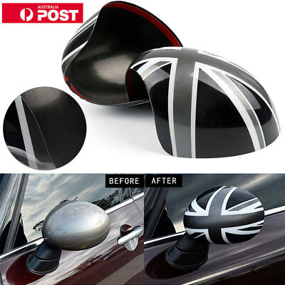 2 x Union Jack WING Mirror Covers for MINI Cooper R55 R56 R60 Power Fold Mirror