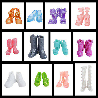 12 Colorful Pairs Of Shoes Fashion Clothes Accessories For Barbie Doll Kids Gift