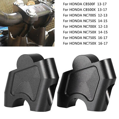 Handlebar Clamp Mount Extension Riser For Honda NC750X CB500X NC700X DCT CB500F
