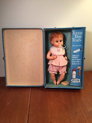 Vintage Doll American Character Teeny Tiny Tears & Case & Accessories