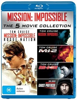 Mission Impossible - Five Movie Collection, Blu-ray