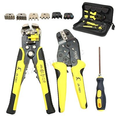 JX-D4301 Wire Crimpers Engineering Ratcheting Terminal Crimping Pliers Tool Set