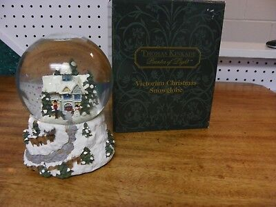 Thomas Kinkade..painter Of Light..victorian Christmas Snowglobe..lights &  Music