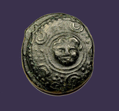 Archaios | King of Macedon Alexander the Great Shield Gorgon Facing/Helmet AE17