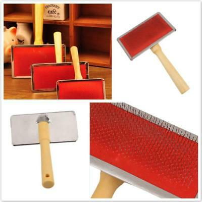 Pet Puppy Dog Cat Hair Grooming Cleaning Slicker Brush Comb Shedding Tool CF