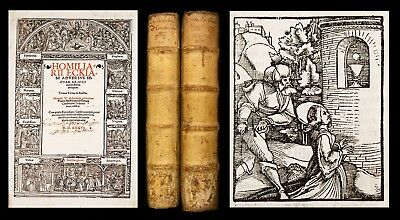 1536 ECK Homilies AGAINST LUTHER CATHOLIC Liturgy Bible 118 RENAISSANCE WOODCUTS