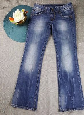 Vigoss Jeans Junior Girls Denim Jeans Distressed Casual Low Rise Size 3 Kk35