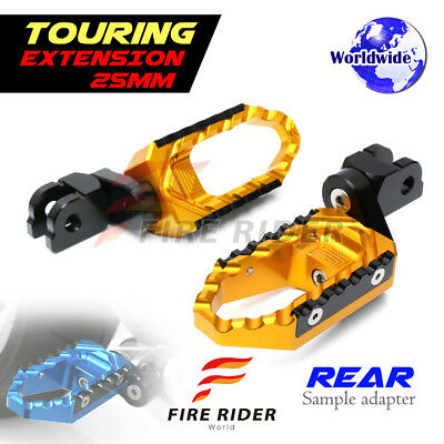 For Ducati 748 /S/R All Year 25mm Riser GD CNC Touring Rear Footpegs