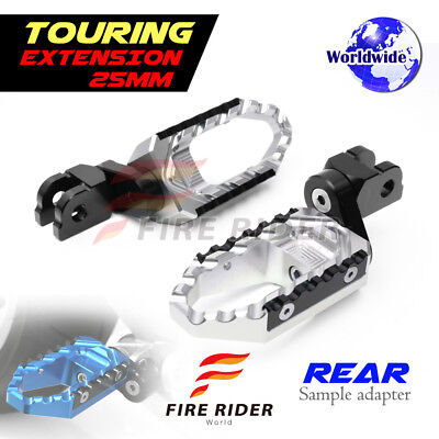 For Ducati 748 /S/R All Year 25mm Riser SI CNC Touring Rear Footpegs