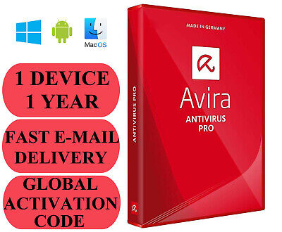 Avira Antivirus Pro 1 DEVICE 1 YEAR GLOBAL CODE 2019 E-MAIL ONLY