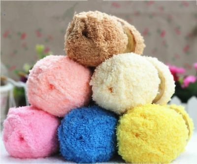 1 Roll 50g Wool Knitting For Baby Kids Towel Scarves Coat Sweater Cloth CF