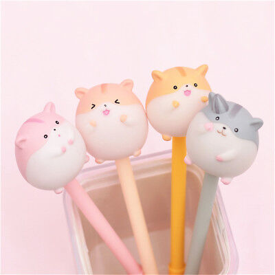 1pcs Gel Pen Kawaii Cartoon  Kawaii Stationery 0.5mm Black Ink Needle Pens
